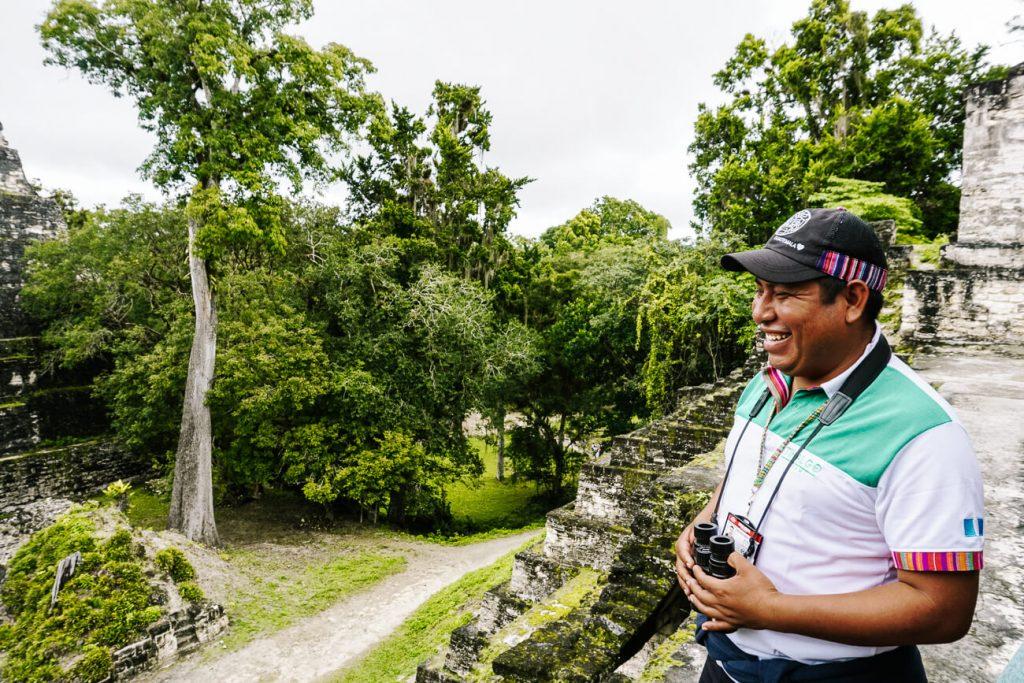 gids in tikal national park guatemala