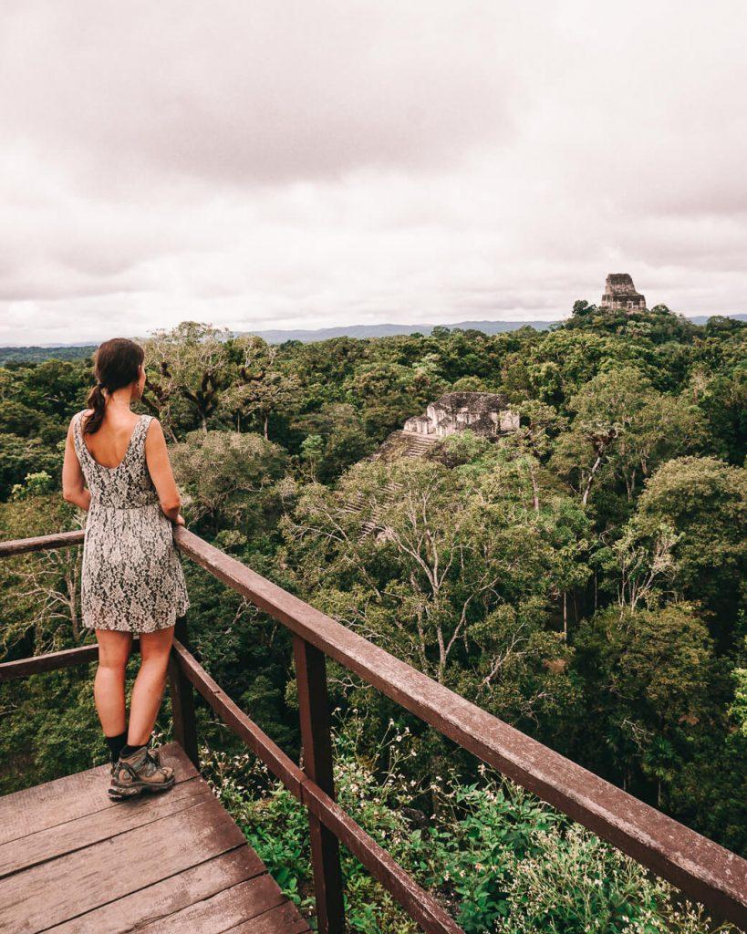 Uitzicht mundo perdido Tikal National Park Guatemala