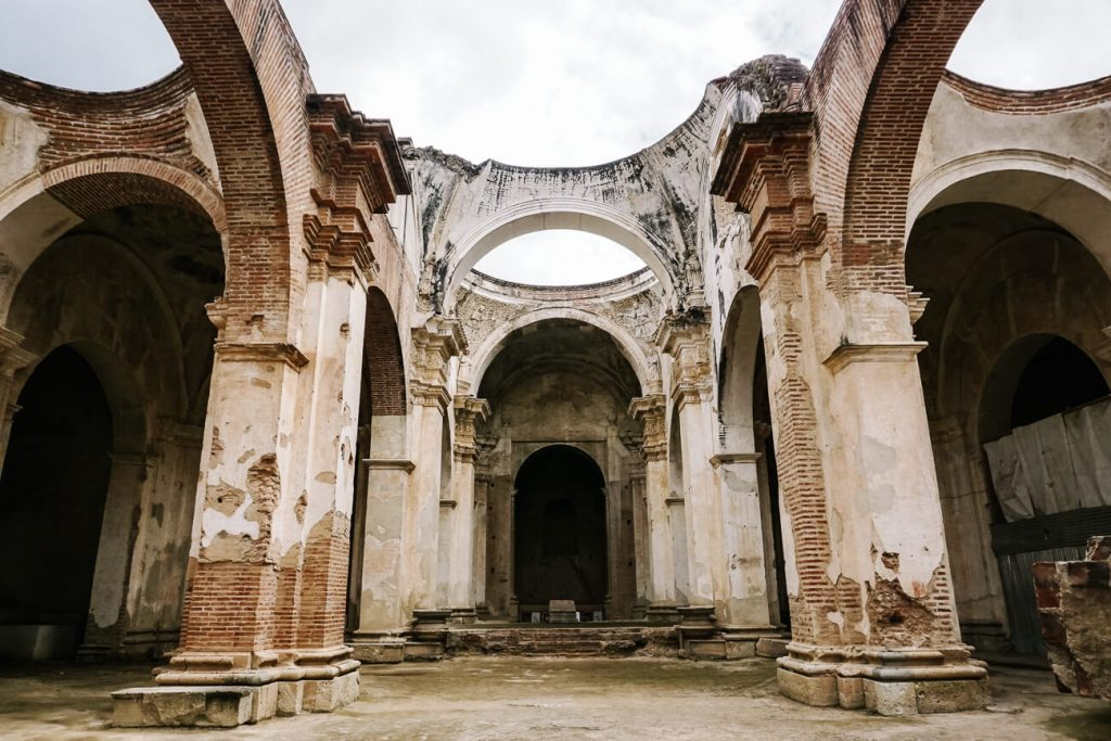 ruïnes van kathedraal in Antigua