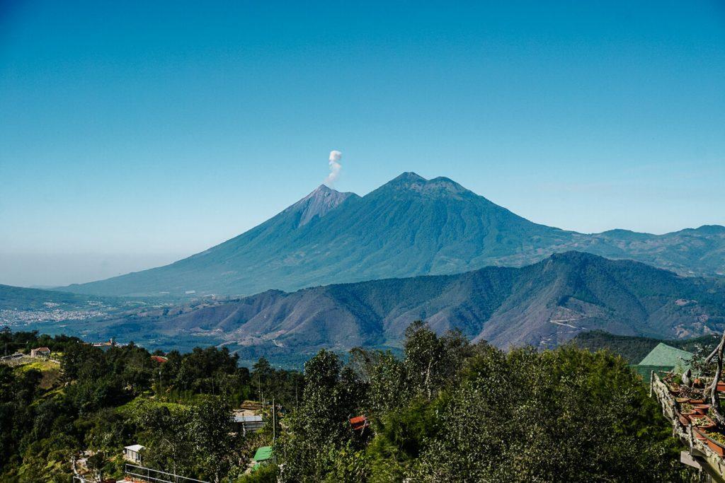 uitzicht op vallei van Antigua