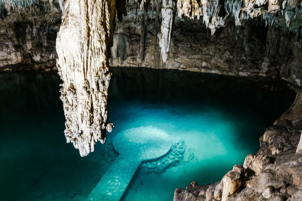 Valladolid Cenote Suytun, een van de bezienswaardigheden rondom Valladolid in Mexico