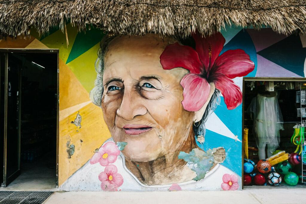 streetart op isla de Holbox