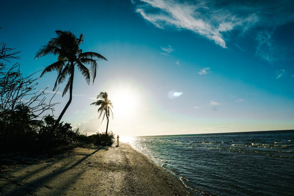 zonsondergang op stranden van Holbox