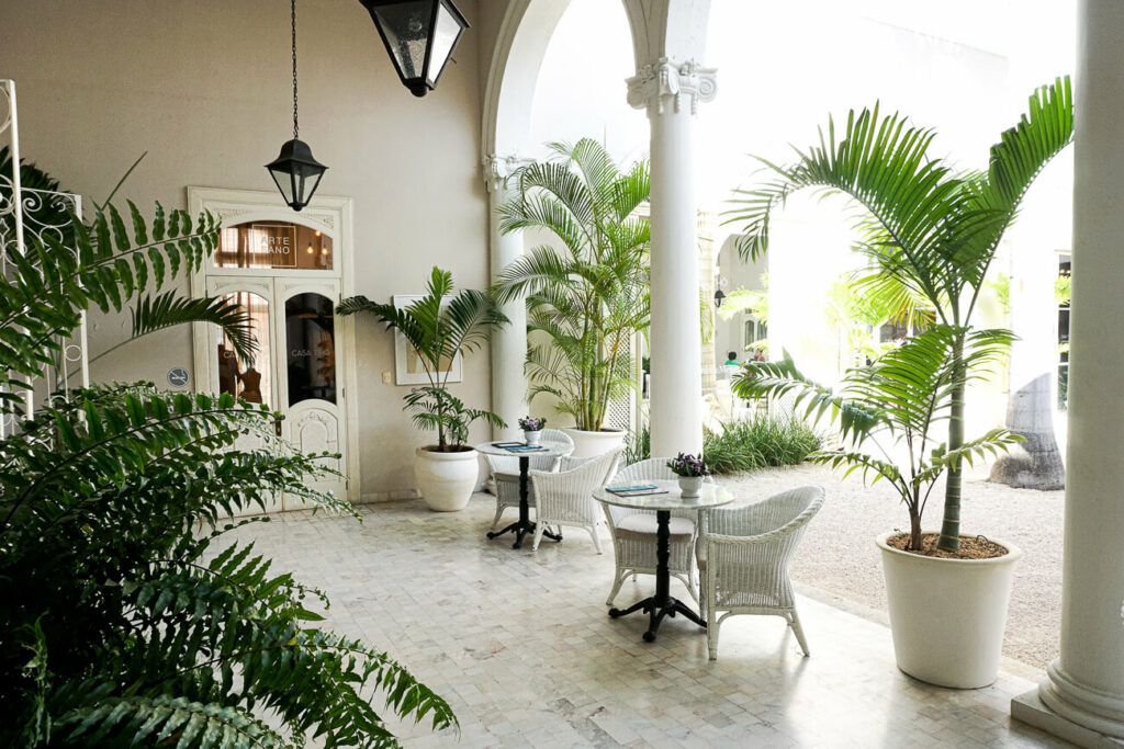 Casa Tho in Merida, de cultuur stad van Yucatan met veel mooie gebouwen, restaurants en winkels.
