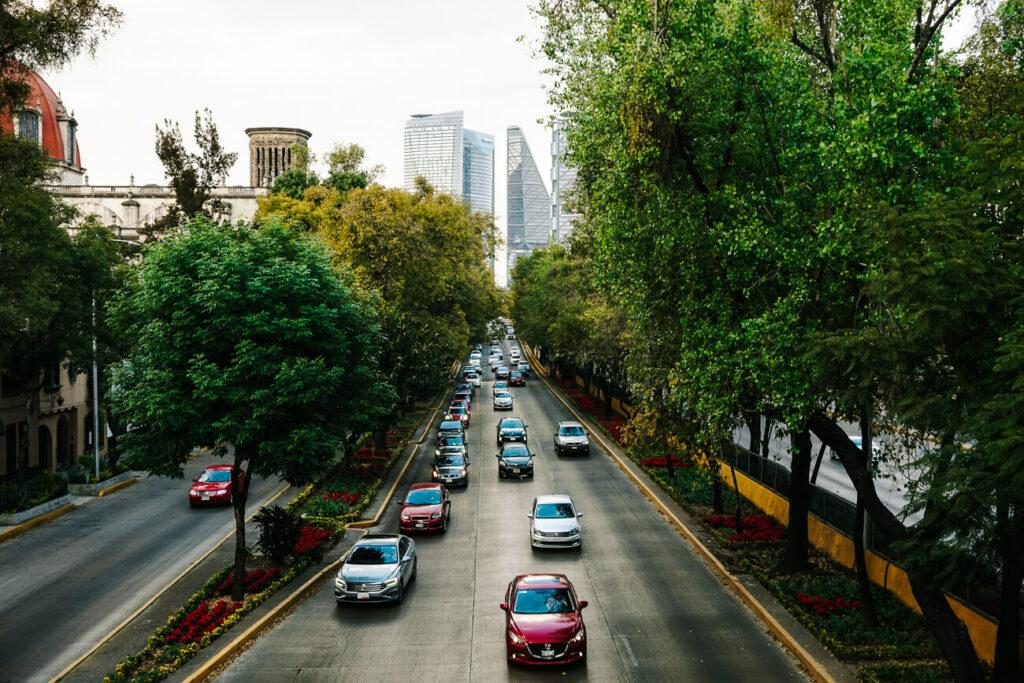 het verkeer in Mexico cty