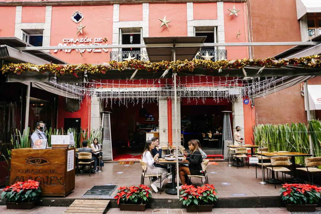 restaurant in de wijk Coayacan in mexico stad