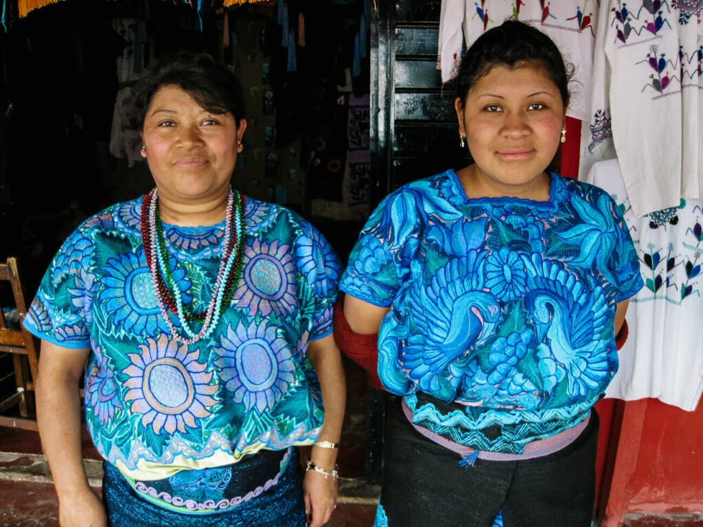 inheemse vrouwen in zinacantan