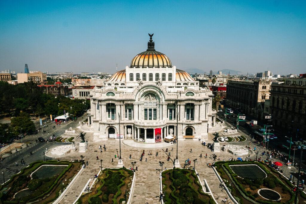 Palacio de Bellas artes, een van Mexico stad bezienswaardigheden