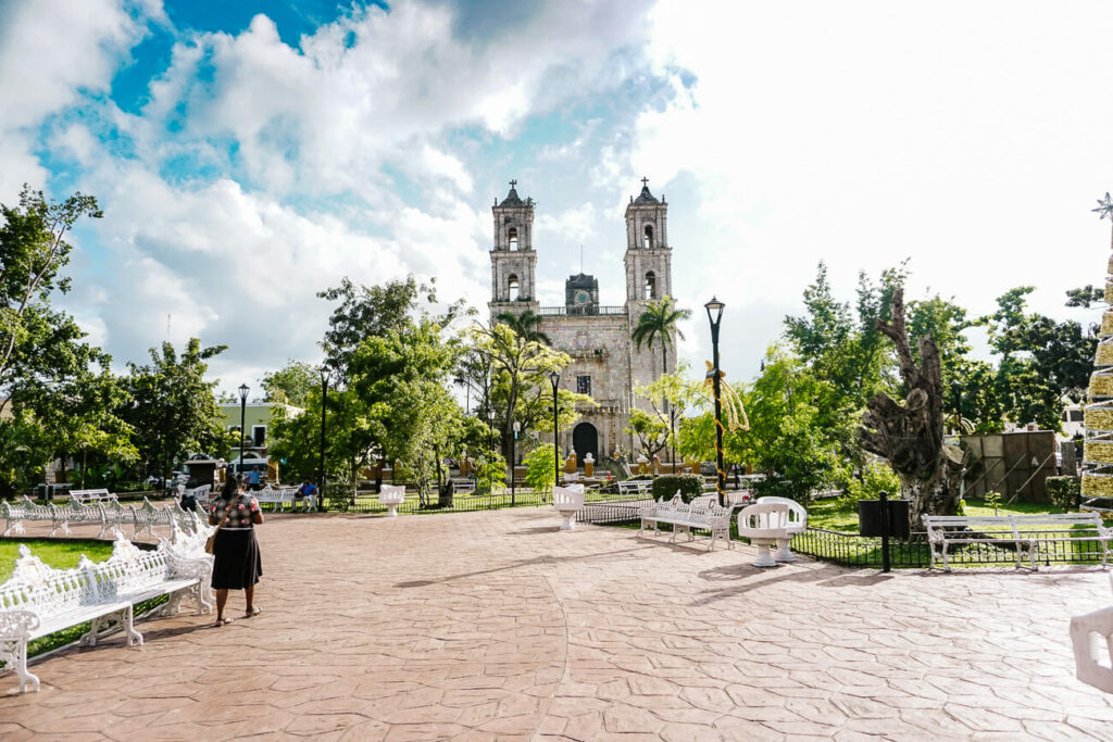 plaza in Valladolid in Mexico