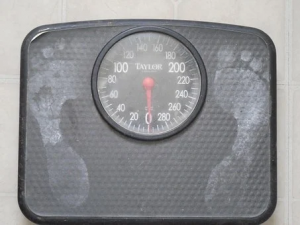 A photo of stand on style weighing scales