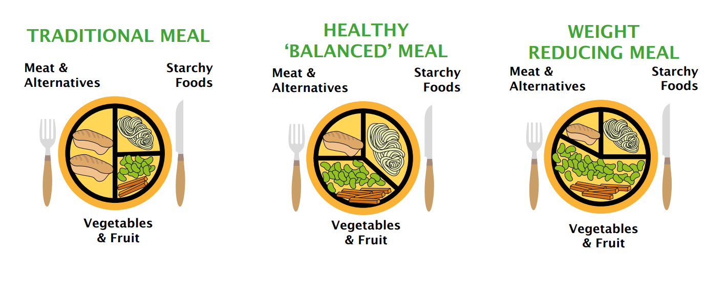 infographic showing various types of meals