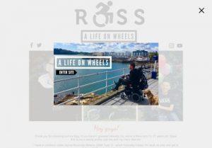 Screenshot of Ross' A Life On Wheels website
