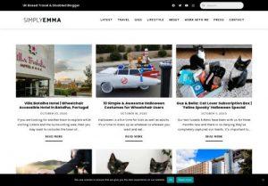 Screenshot of Simply Emma's website