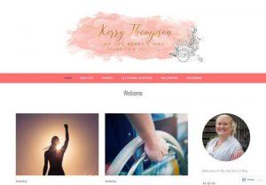 a screenshot of Kerry Thompson's website