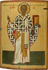st Nicholas, Ryskortodox ikontradition från Kargopol, tidigt 1400-tal till sent 1500-tal