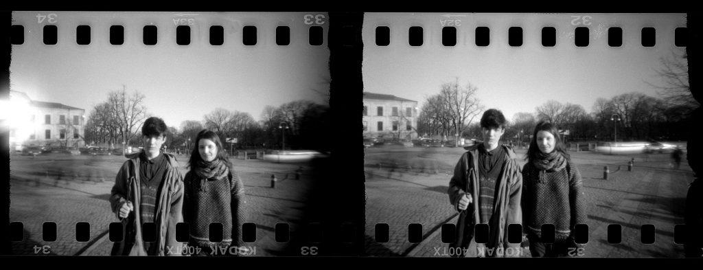 Ruben och Tuva, ca 2013, stereohålkamera