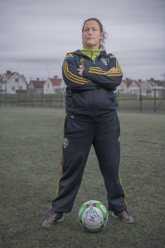 Emelie at her local football pitch Härlanda Park - Gothenburg, Sweden.