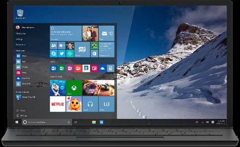 uiterlijk van windows 10