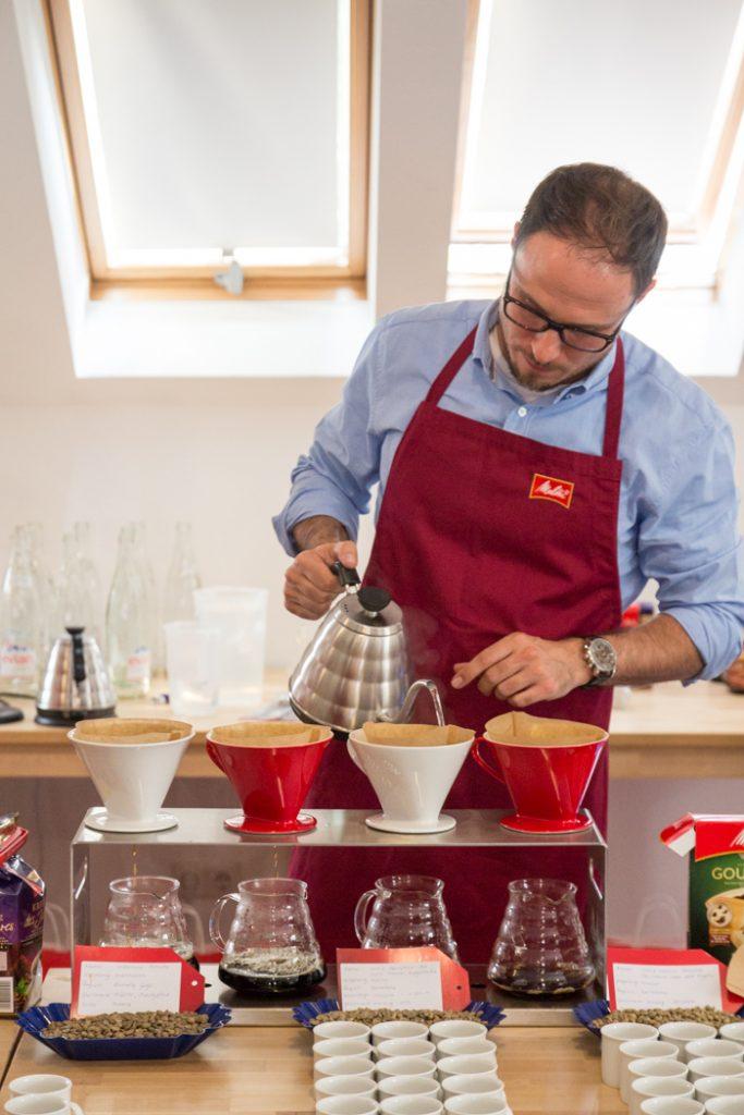 Kaffeedegustaition beim Food Blog Day in Frankfurt mit Melitta