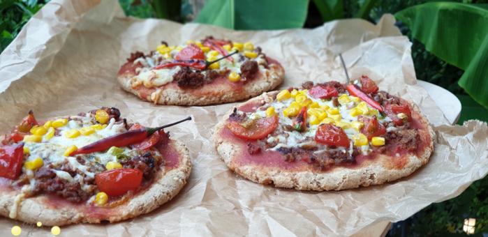 Rezept Dinkelvollkornpizza mit Maismehl