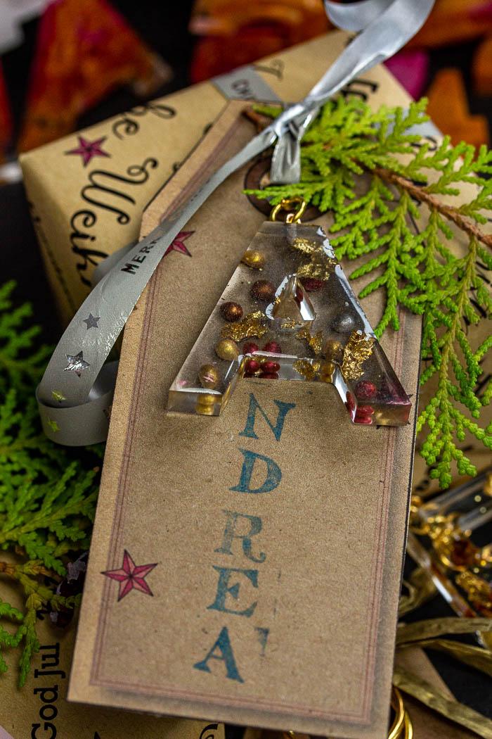 Geschenke verschönern mit Schlüsselanhänger
