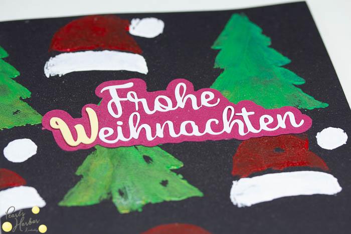 Weihnachtskarten selbst basteln Basteln mit Kindern