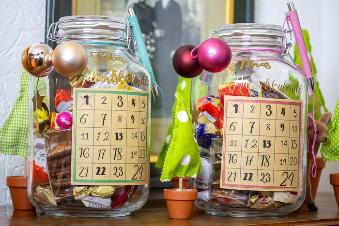 schneller Adventskalender basteln