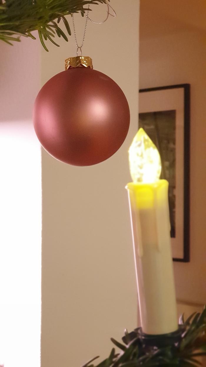 Kugel am Weihnachtsbaum