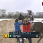 Galopp-Renntag in Dortmund am 24. Januar 2021