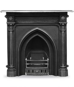 HEF055 - Gothic fireplace cast iron combination