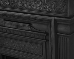 Hamden victorian cast iron fireplace RX163 front detail