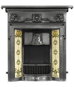 RX131 Morris fireplace cast iron art nouveau by Carron polished