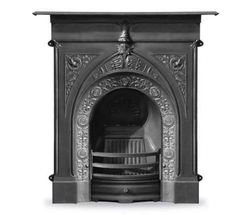 RX140 Knaresborough fireplace Victorian black cast iron fire by Carron