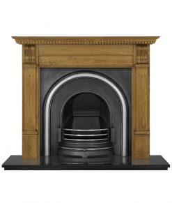 Celtic Arch fireplace insert cast iron RX010