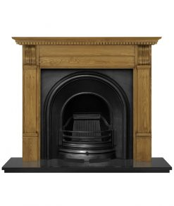 Celtic Arch fireplace insert cast iron RX204