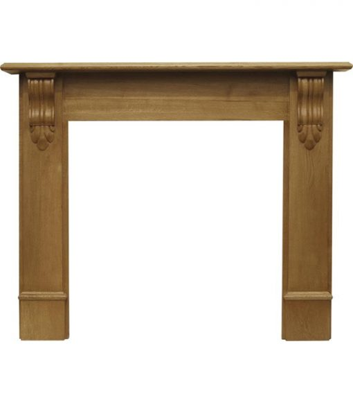 Edinburgh corbel fireplace surround waxed oak SMC116