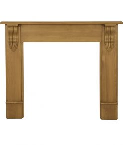 Edinburgh corbel fireplace surround waxed pine SMC011