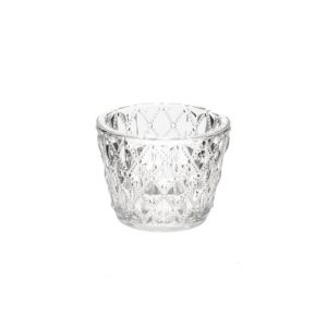11035218 Clear glass tealight holder 7.5cm CB