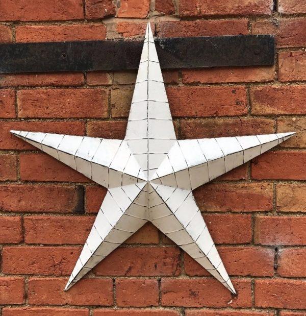37526R White Metal Barn Star 52cm