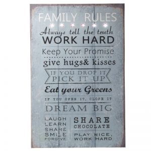 Family Rules Light Up Sign