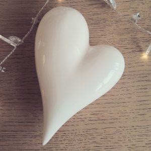 White ceramic heartWhite ceramic heart