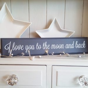 Wooden Sign Love You To The Moon And Back