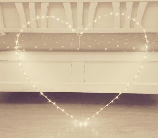 34504 LED Large Hanging Heart