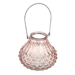 11166288CB Sorbet lantern pink 13.5cm