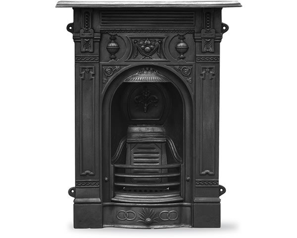 HEF246 Victorian Small Fireplace Black