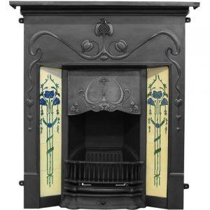 RX134 Valentine Fireplace Black