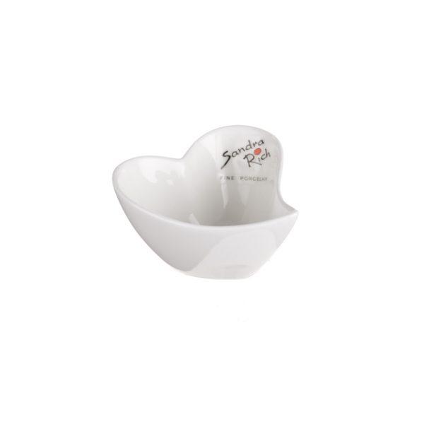15907CB Sandra Rich Porcelain Heart Bowl 4x7.5x7.5cm