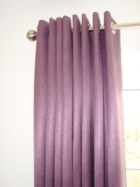 Purple Eyelet curtains