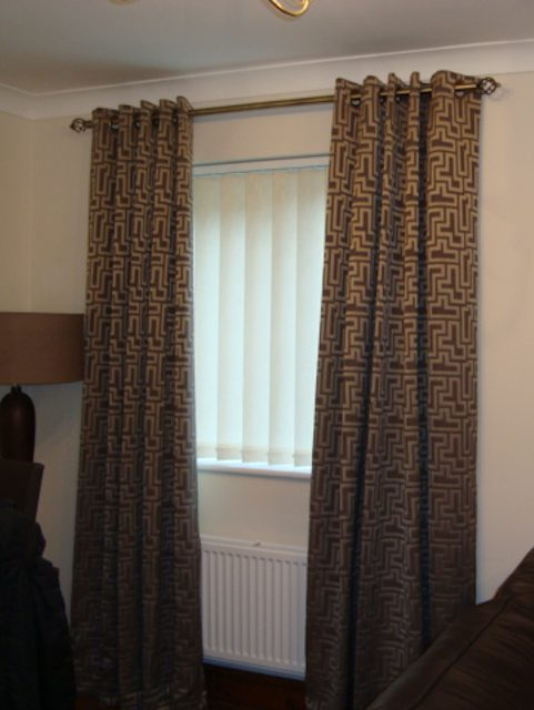 Eyelet Curtains and Vertical Blinds