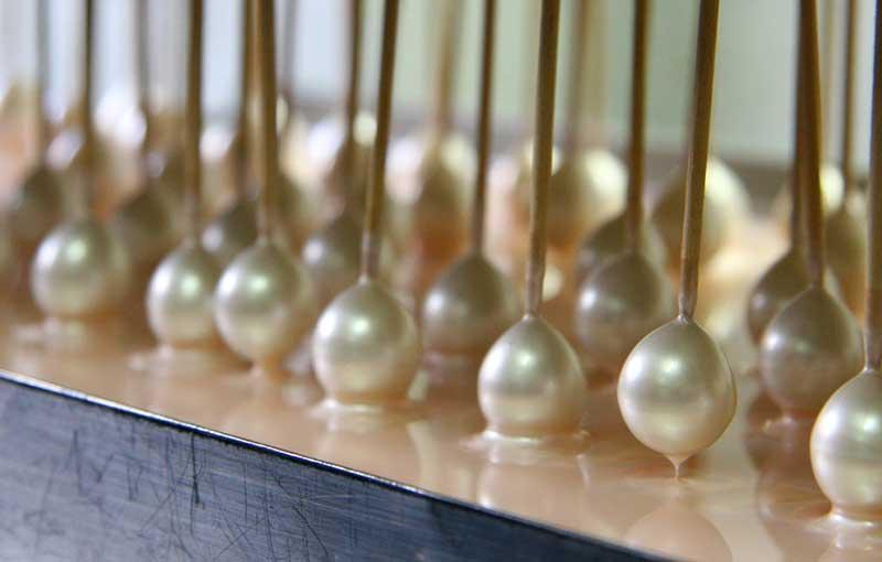 Detalle de PerlArt Majorca Pearls Factory baños de esencia